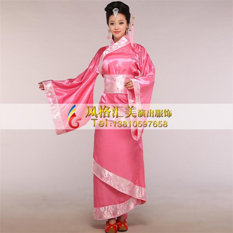 风格汇美汉代女士服装定制表演服装厂家演出舞台古装服