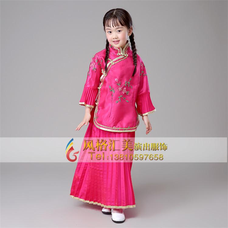 儿童古代演出服装,儿童古装服装定制_风格汇美演出服饰