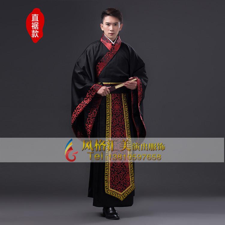 男士古代服装批发 汉朝古装定制专家 风格汇美演出服饰图片