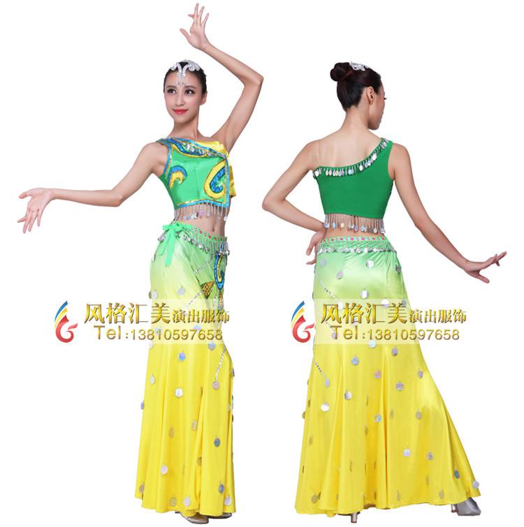 傣族舞蹈服装,傣族舞蹈演出服,民族舞蹈服饰专业批发定制工厂.