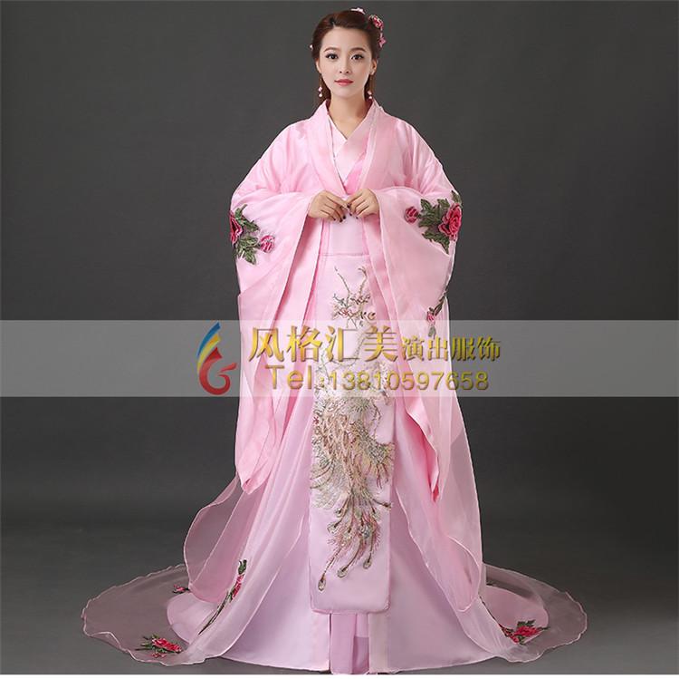 2017年汉朝女子服装定女子古代服装批发 古代演出服批发工厂