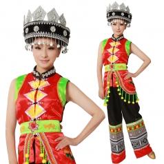 风格汇美 新款彝族服装开场舞服装演出服装舞台 服装热销伴舞款