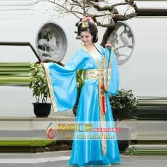 女士亮面蓝色古装 公主古代服装定制
