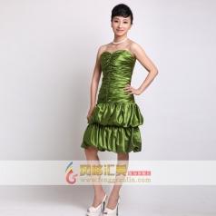 短款礼服 女士绿色礼服