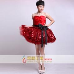 女士小礼服 短款伴娘装 舞台用礼服