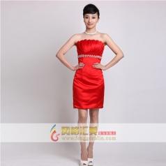 女士红色晚礼服 短款小礼服