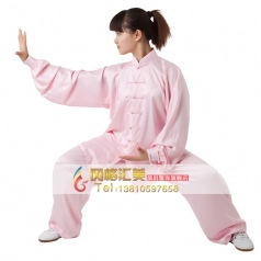 弹力纺丝中式立领对襟太极拳服装练功服