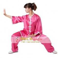 弹力纺丝太极服吸汗免熨烫晨练武术表演服