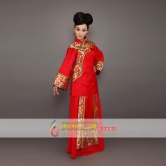 长袖刺绣旗袍 凭红色长款旗袍可订制