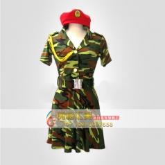 八一建军节演出服装女士迷彩服