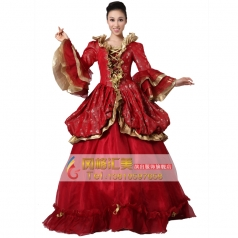 欧洲西式宫廷服装  王后演出服装