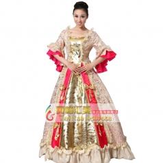 欧式刺绣王后服装  宫廷演出服