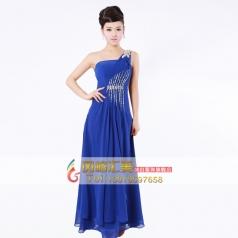 带钻蓝色长款演出服 舞台表演服装