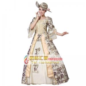 出租刺绣花边高贵王后服装