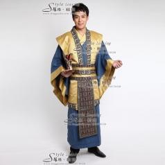 汉朝舞台服装 古代演出服
