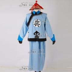 清朝古代兵服  影视演出服装  古代兵服