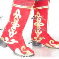 女士拉丁舞鞋 成人长筒中跟舞蹈鞋