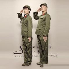 北京演出服装 幸福像花一样绽放影视演出服 年会服装 军装