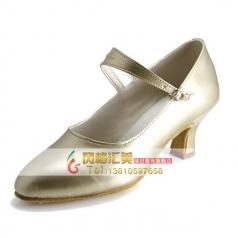 成人表演演舞蹈鞋 女士中跟拉丁舞蹈鞋