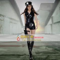 北京COSPLAY 女警服装 科幻片女警演出服