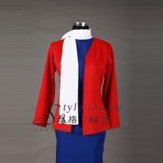 红色年代舞台装 演出表演服装