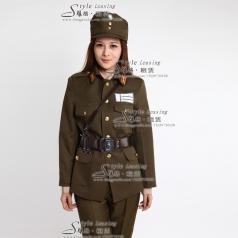 女士军队舞台演出服装 表演服装
