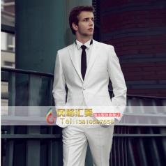 白色主持人礼服套装 宴会商务套装