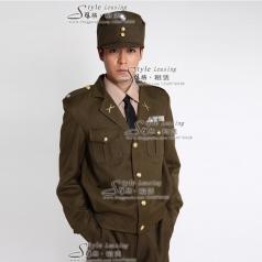 男士军队服装影视制服 舞台演出服装