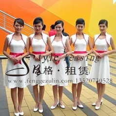 白色旗袍长裙 新款优雅礼仪礼服演出服装