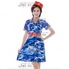 仪仗队演出服装 女士表演服装