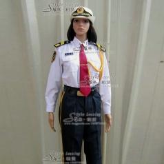 白色女士军队礼服  军装表演服装