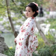 碎花和服演出服装 日本女士表演服