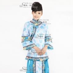 刺绣女士演出服装 旗袍龙凤褂舞台装
