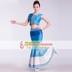 2013新款女士傣族舞蹈鱼尾裙 少数民族风特色表演服装