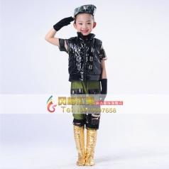 儿童舞蹈服装工厂专业定制演出服装_风格汇美演出服饰