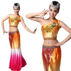 傣族舞蹈 孔雀舞演出服 民族演出服装