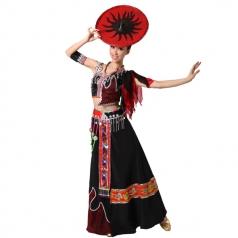 风格汇美 高原女人歌少数民族舞蹈演出服 出傣族舞蹈服