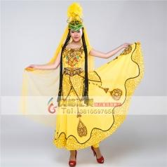 民族服装女 新疆舞蹈演出服装 维吾尔族表演服装 舞蹈服装