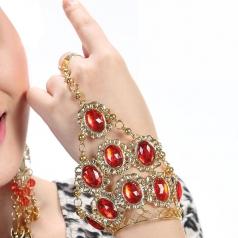 女士肚皮舞金色镶钻手链 拉丁舞印度舞饰品 新款埃及肚皮舞手环