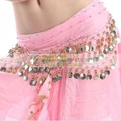 肚皮舞金币亮片腰链 加厚加密印度舞蹈腰带腰封 埃及肚皮舞腰链
