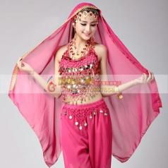 新款肚皮舞头纱轻薄印度舞蹈头饰 头巾埃及肚皮舞舞蹈配饰