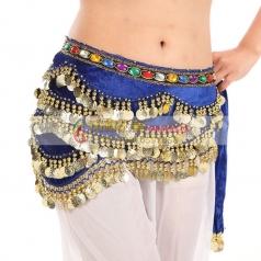肚皮舞腰链 加厚加密印度舞腰链 埃及肚皮舞腰封波浪型练习腰链