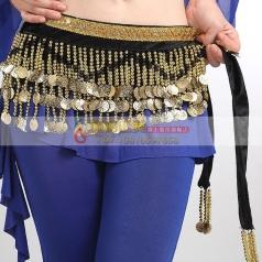 新品肚皮舞腰链金币腰链加密厚重 埃及肚皮舞腰链臀巾 印度舞腰链