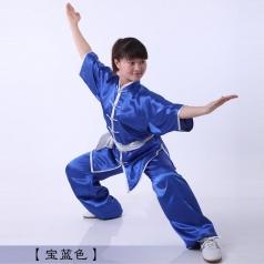 太极拳练功服女男夏南韩丝太极服装弹力仿真丝太极拳服装
