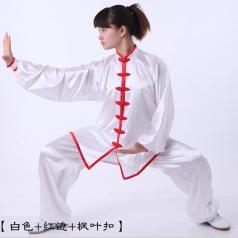 男女太极服太极拳服装 武术比赛表演服装 弹力丝晨练服