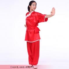 秋季棉加丝太极服男女款武术表演练功服太极拳武术比赛服装