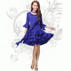 广场舞服装套装裙 跳舞蹈服装 女成人拉丁舞练习服装连衣裙 新款
