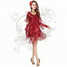 2014新款夜店流苏亮片裙 年会舞台装 表演装 演出服 洋装连衣裙