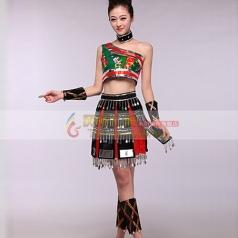女士佤族舞蹈服