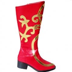 新款蒙古藏族靴 新疆舞蹈靴 皮革舞鞋 藏族手工靴 民族舞蹈靴子
